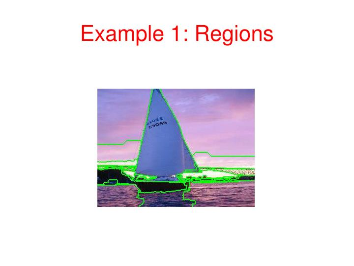 Example 1 regions