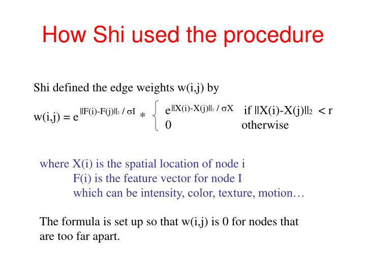 How Shi used the procedure