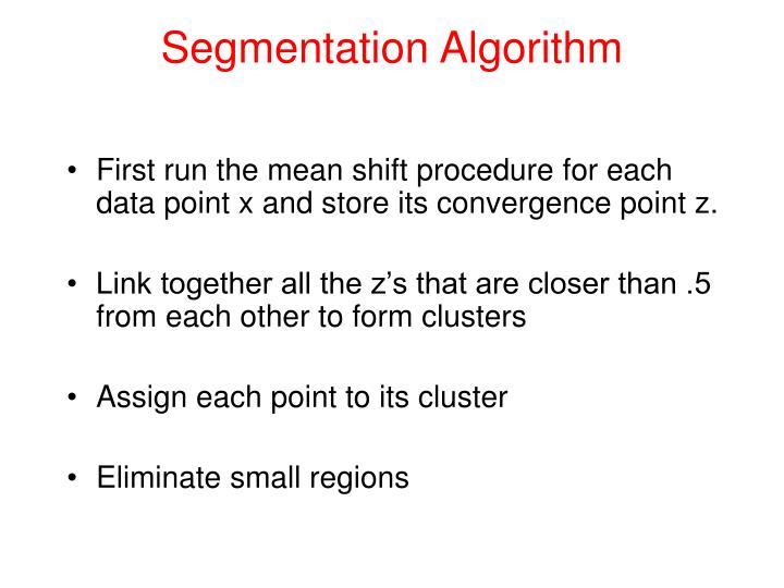 Segmentation Algorithm