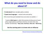 what do you need to know and do about it1