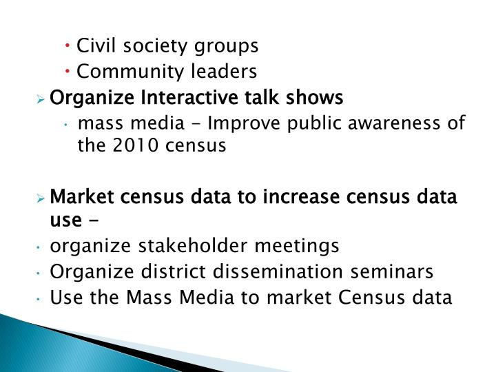Civil society groups