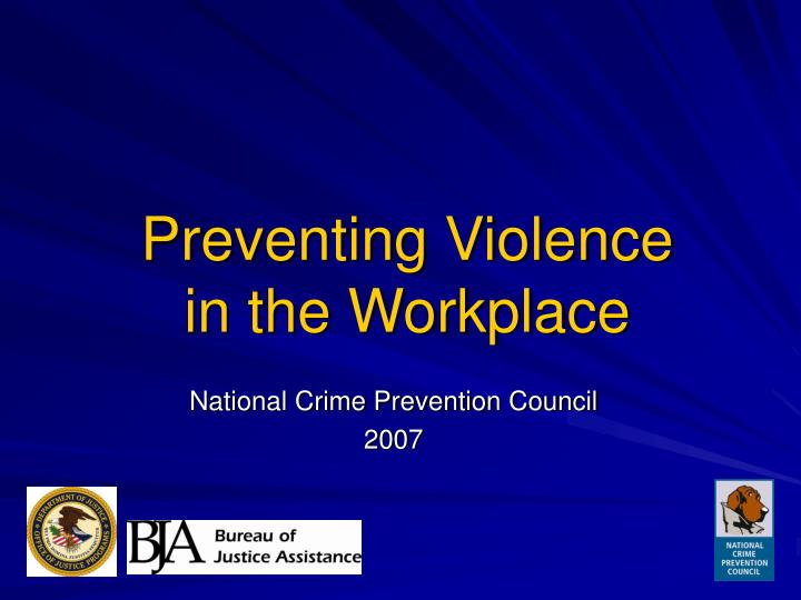 preventing violence in the workplace n.