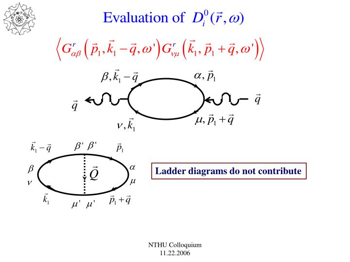 Ladder diagrams do not contribute