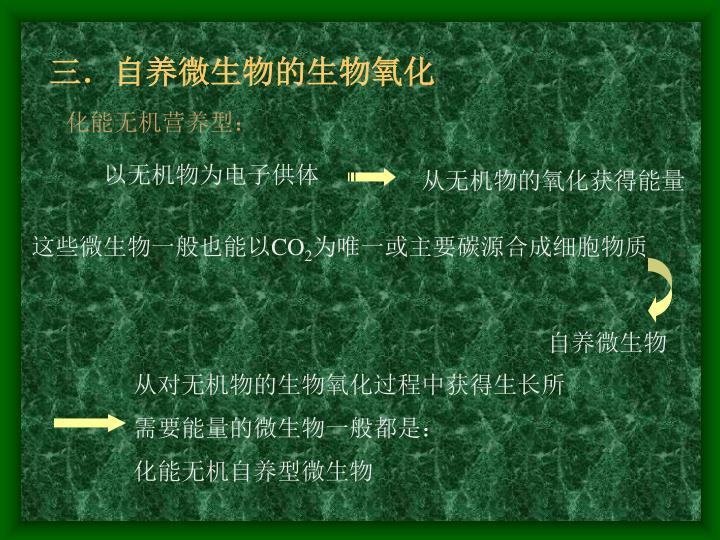 三.自养微生物的生物氧化