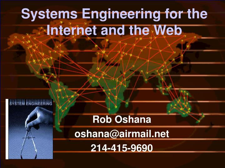 systems engineering for the internet and the web n.
