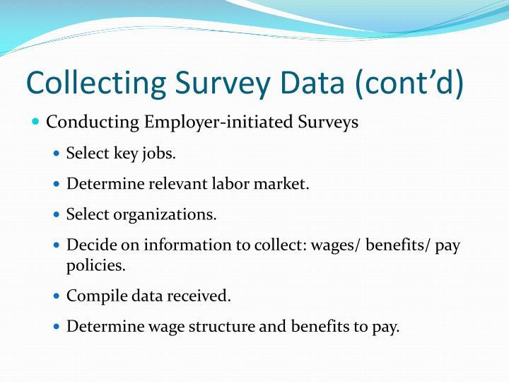 Collecting Survey Data (cont'd)