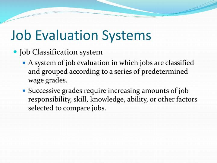 Job Evaluation Systems