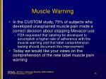muscle warning