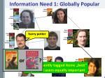 information need 1 globally popular