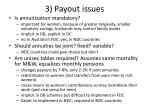 3 payout issues