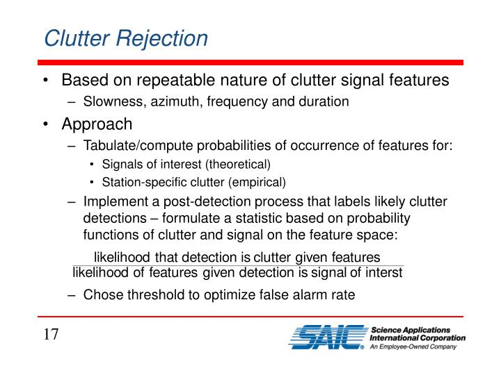 Clutter Rejection
