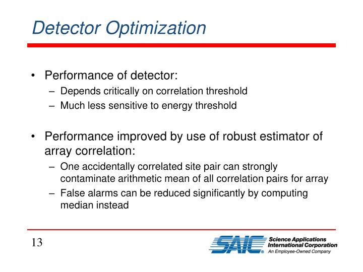 Detector Optimization