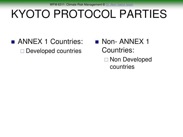 ANNEX 1 Countries: