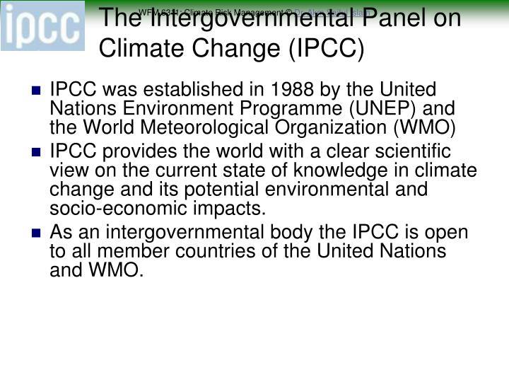 The Intergovernmental Panel on