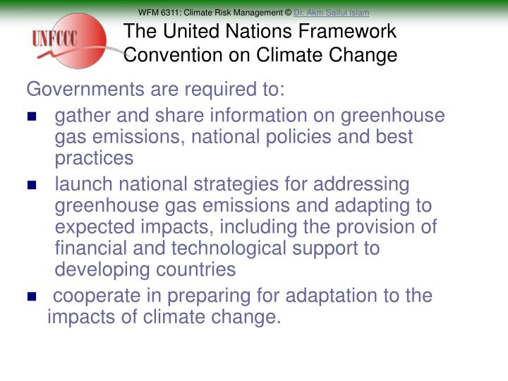 The United Nations Framework Convention on Climate Change
