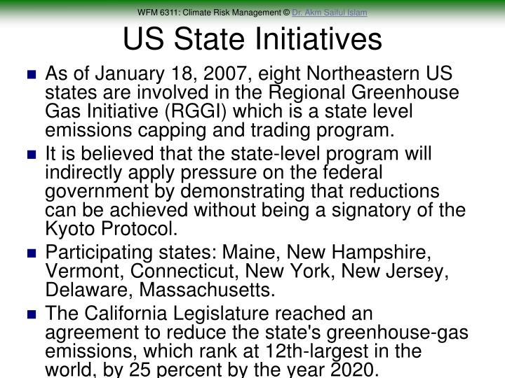 US State Initiatives