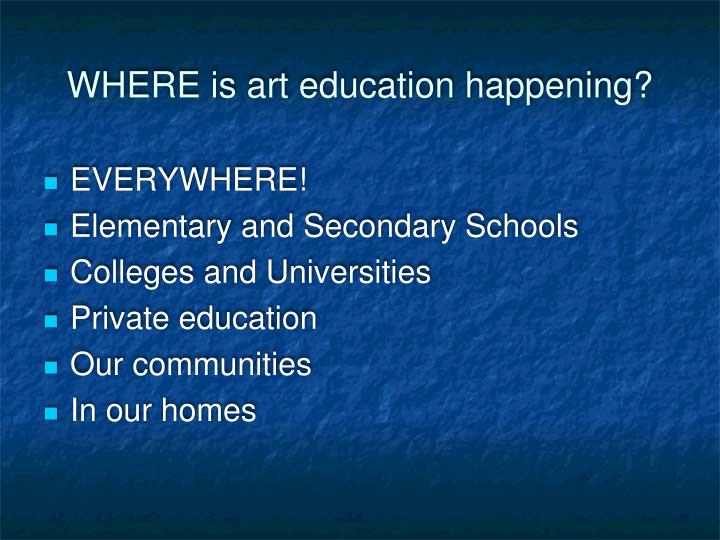 Where is art education happening