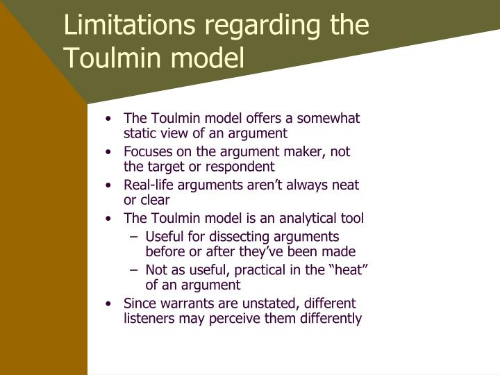 toulmin thesis model