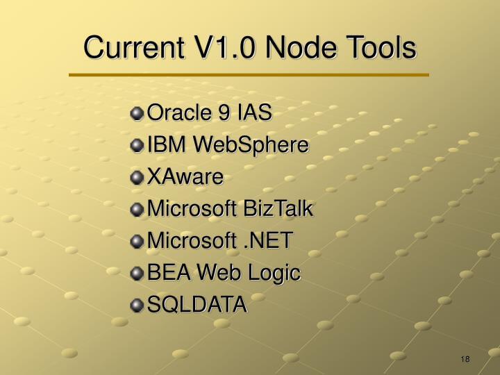 Current V1.0 Node Tools