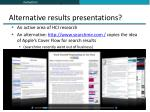 alternative results presentations
