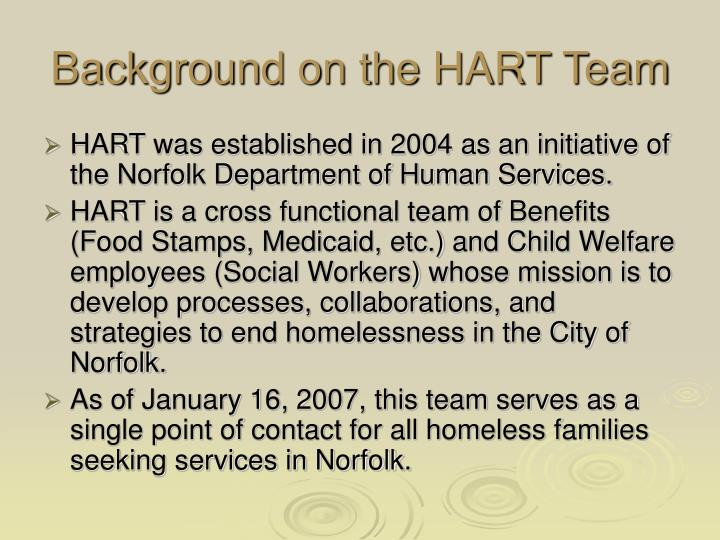 Background on the hart team