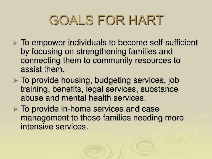 GOALS FOR HART
