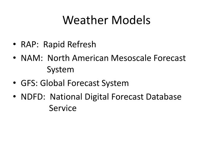 Weather Models