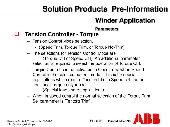 Tension Controller - Torque