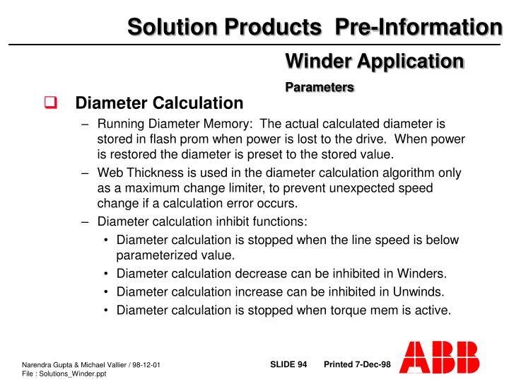 Diameter Calculation