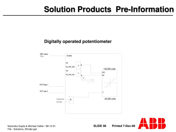 Digitally operated potentiometer