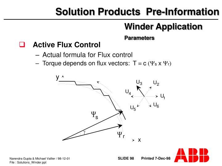 Active Flux Control