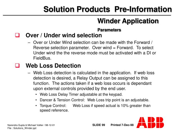 Over / Under wind selection