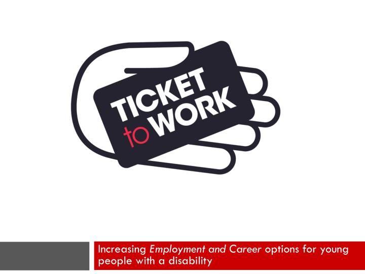 increasing employment and career options for young people with a disability