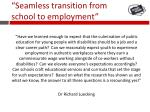 seamless transition from school to employment