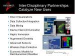inter disciplinary partnerships catalyze new uses