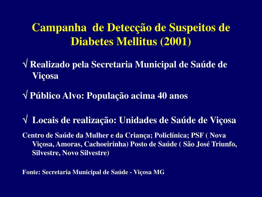 campanha contra diabetes insípida