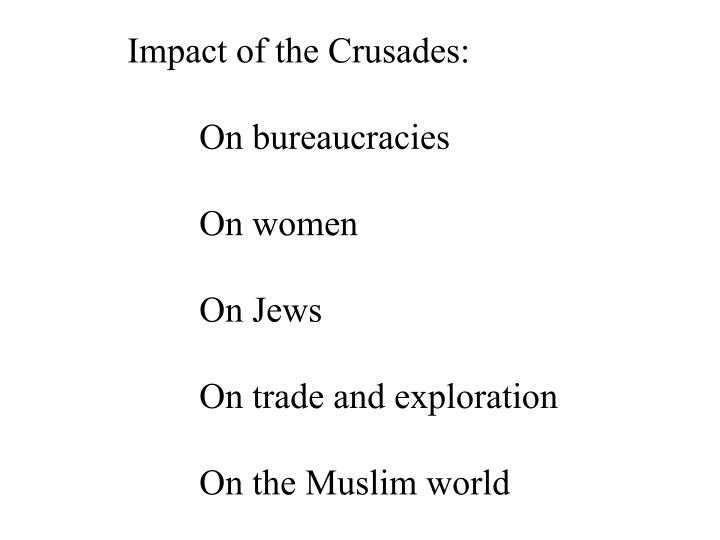 Impact of the Crusades: