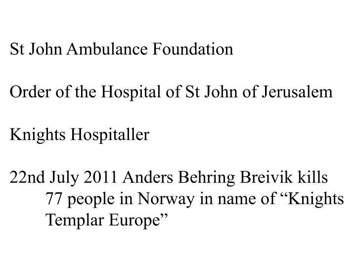 St John Ambulance Foundation