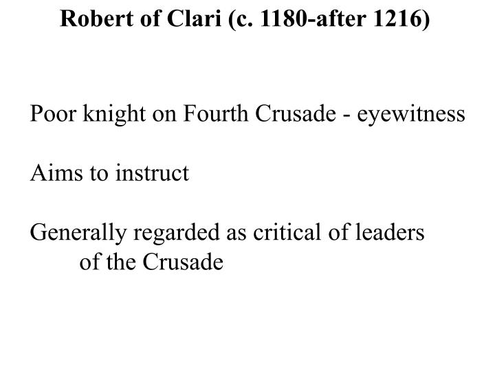 Robert of Clari (c. 1180-after 1216)
