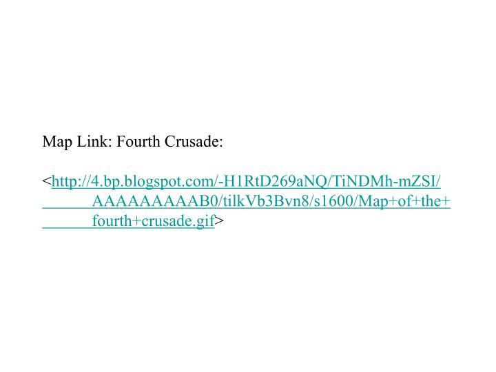 Map Link: Fourth Crusade: