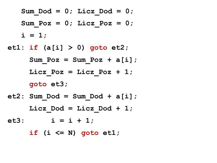 Sum_Dod = 0; Licz_Dod = 0;