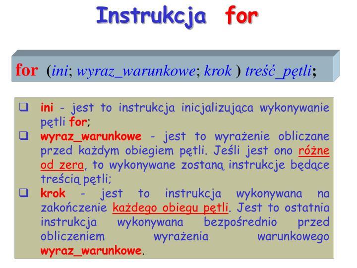 Instrukcja