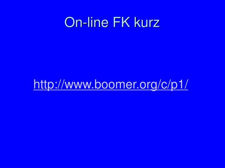 On-line FK kurz