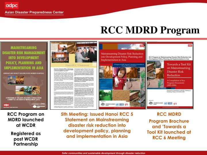RCC MDRD Program