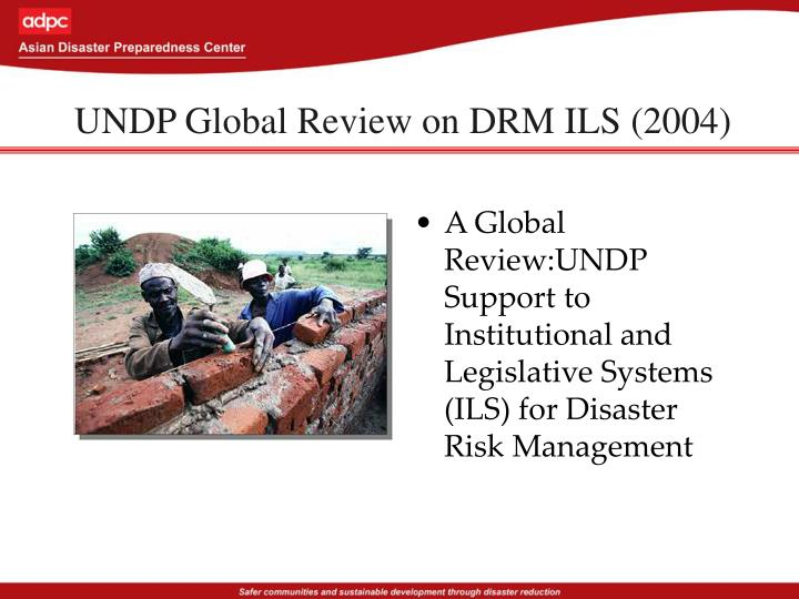 UNDP Global Review on DRM ILS (2004)