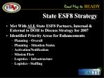 state esf8 strategy