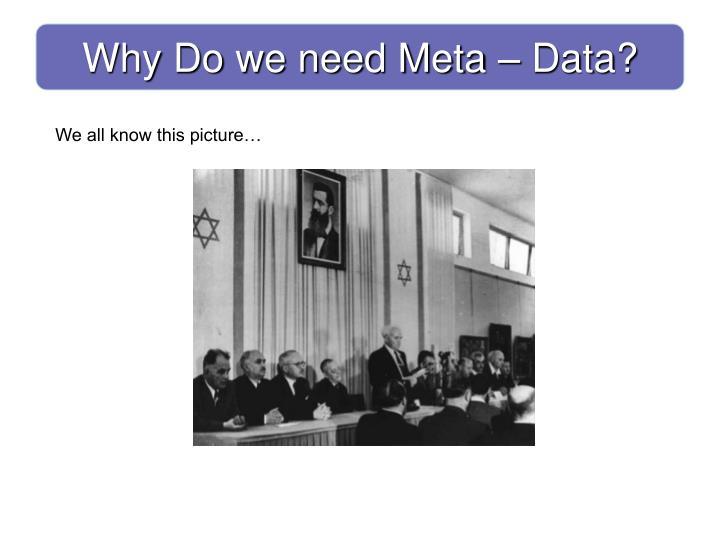 Why Do we need Meta – Data?