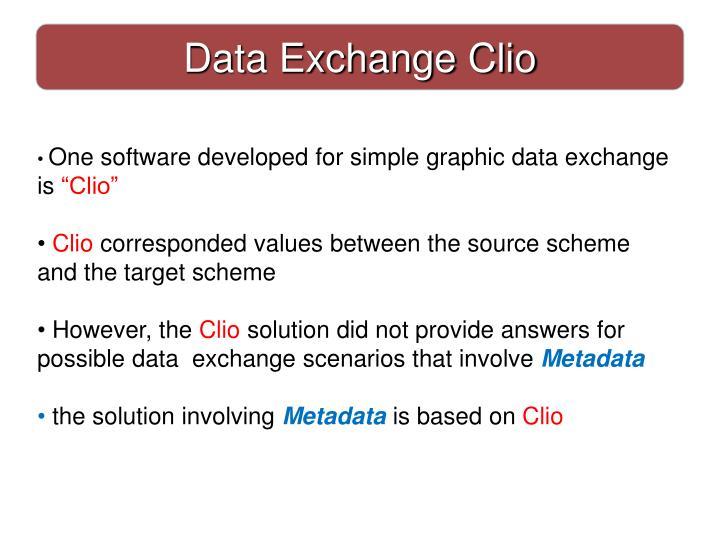 Data Exchange Clio