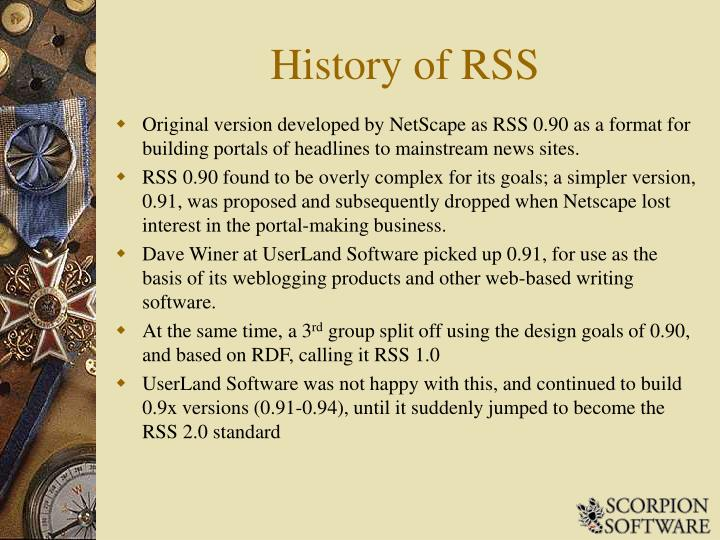 History of RSS