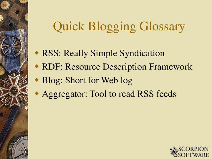 Quick Blogging Glossary